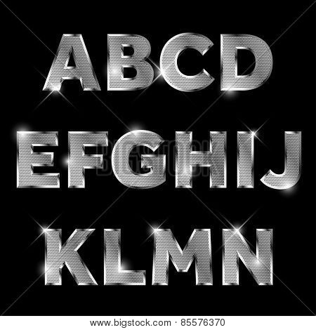 Silver metal letters