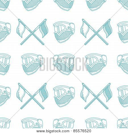 Monochrome blue vector pattern for paintball