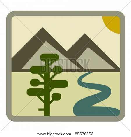 vector drawing landscape icon