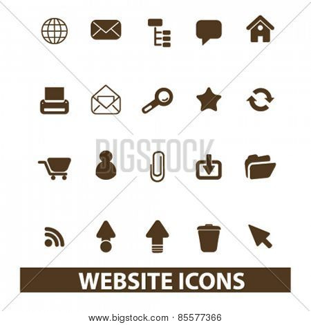 website, internet isolated icons, signs, illustrations collection concept design set for web and application on background, vector