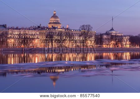 Embankment Of Neva River And The Admiralty, St. Petersburg