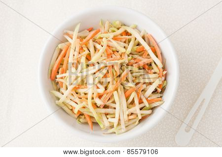 broccoli slaw with shredded carrots