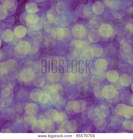 Pink, Yellow And Purple Abstract Background Of Blurred Lights With Bokeh Effect