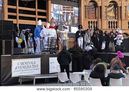 The Stage Of Grand Theatre On  Venice Carnival