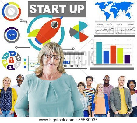 Diversity Casual People Start up Leadership Team Success Concept