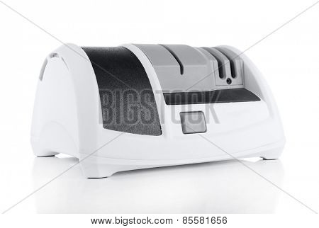 Electric knife sharpener isolated on white