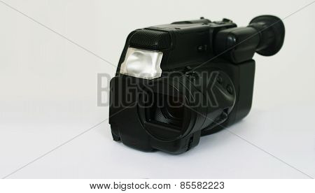 Black Camcorder On A Light Background
