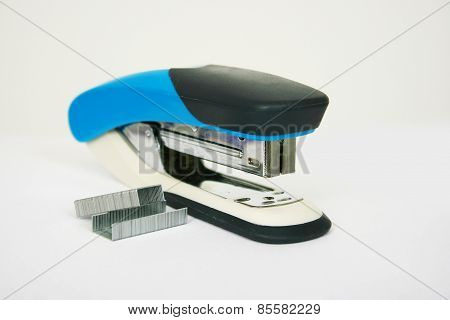 Stapler With Staples On A Light Background