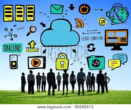 Business People Cloud Computing Aspiration Team Concept