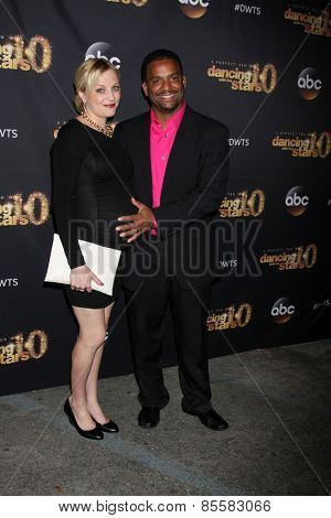 LOS ANGELES - MAR 16:  Angela Unkrich, Alfonso Ribeiro at the