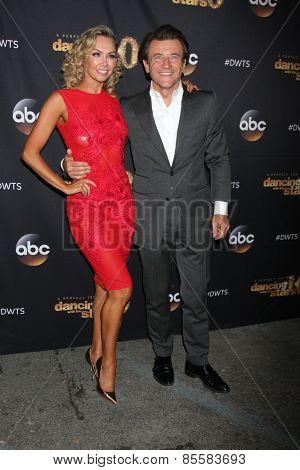 LOS ANGELES - MAR 16:  Kym Johnson, Robert Herjavec at the
