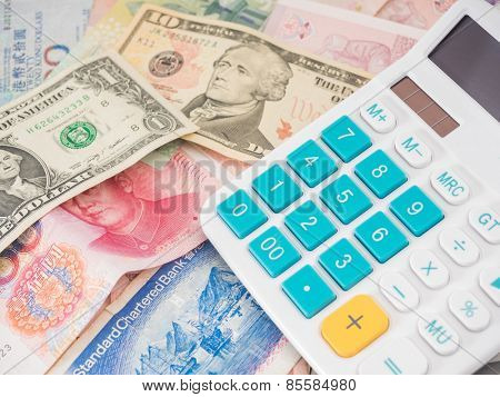 selective focus image of financial report, money and others.