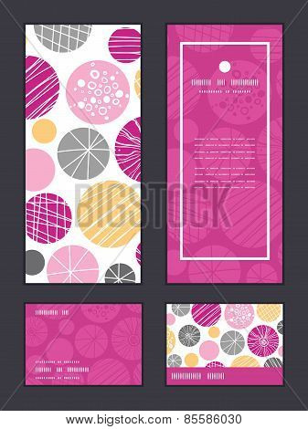 Vector abstract textured bubbles vertical frame pattern invitation greeting, RSVP and thank you card