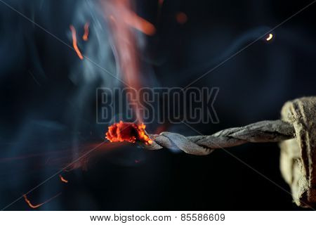 Burning Firecracker
