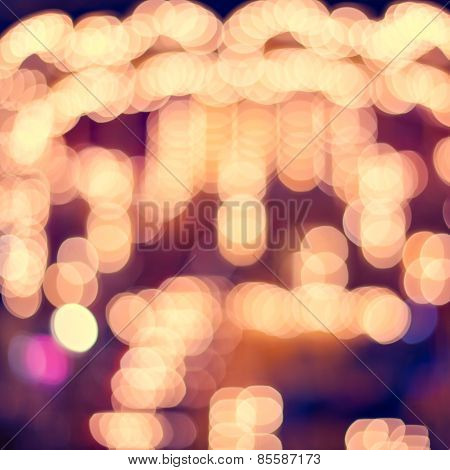 Colorful Abstract Background Of Blurred Lights With Bokeh Effect