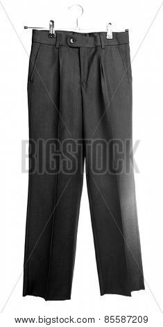 School uniform trousers, isolated on white
