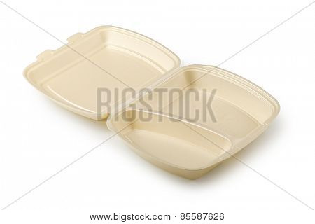 Plastic containers isolated on a white background