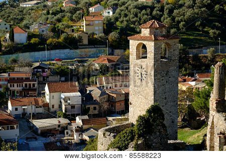Clock Tower In Stari Grad Bar, Montenegro