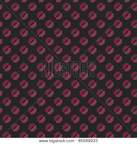 Colored Geometrical Pattern With Pink Dotted Lips