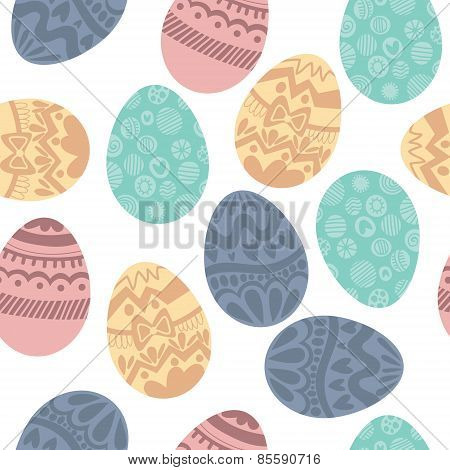 Seamless Pattern With Colorful Easter Eggs.seamless Pattern Can Be Used For Wallpapers, Pattern Fill