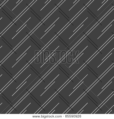 Monochrome Pattern With Doubled Strips Forming Diagonal Rectangles
