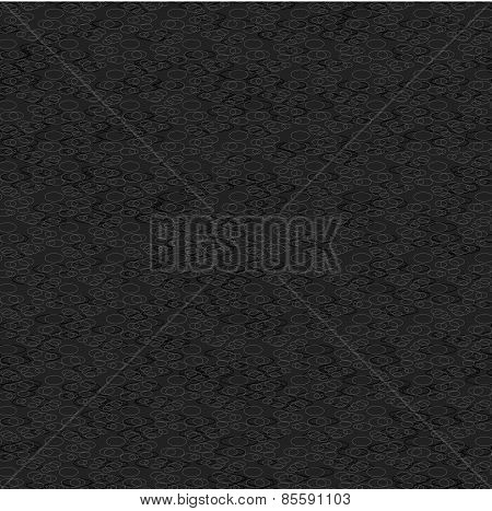 Monochrome Pattern With Light And Dark Gray Circled Texture On Gray