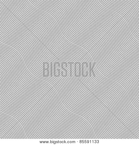Monochrome Pattern With Light Gray Diagonal Wavy Guilloche Texture