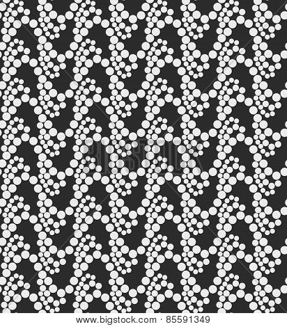 Monochrome Pattern With White Circles On Gray Forming Waves