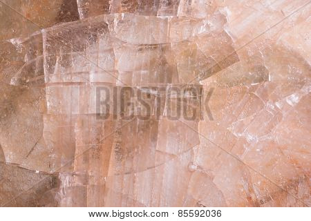 Brownish Ice Texture With Cracles
