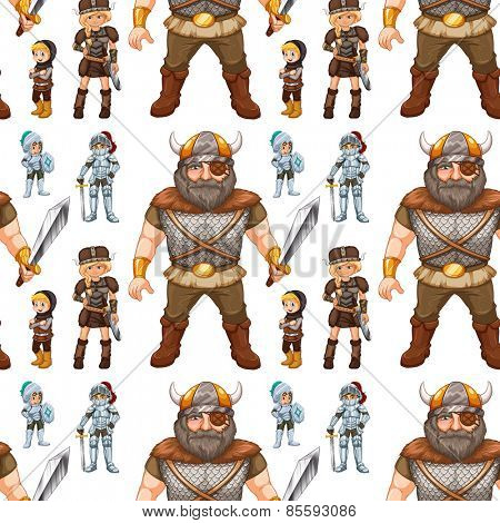 Seamless knights and many vikings