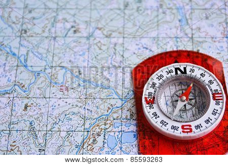 On A Journey With Map And Compass.