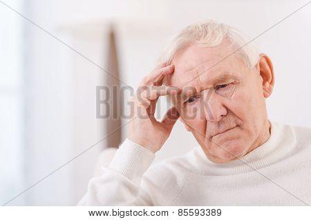 Worried Senior Man.