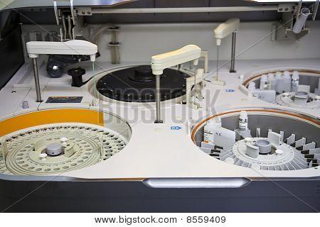 Modern Robotical Machine For Centrifuge Blood Testing