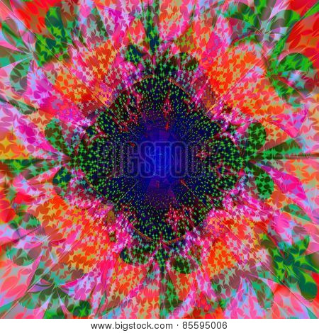 Abstract colorful fractal centralized background
