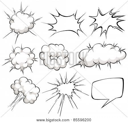 Nine design of blank cloud explosions