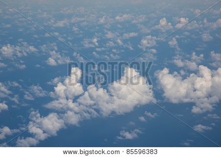 Sky And Small Clouds Background