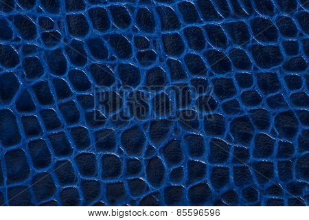 Blue Embossed Leather Texture Background
