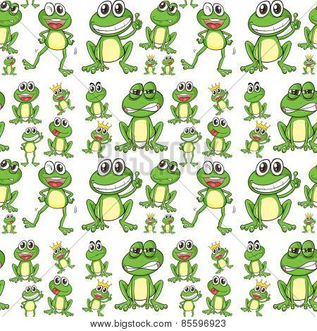 Seamless frog in many positions