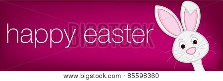Hiding Easter Bunny Banner In Vector Format.