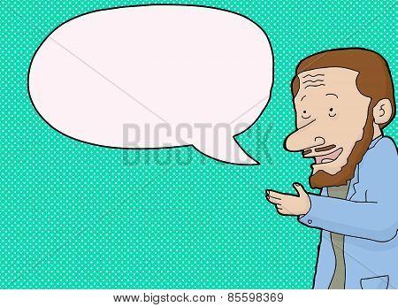 Gesturing Man Talking