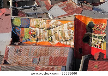 Street Art In Valparaiso.