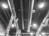 stock photo of hvac  - Image of Air Ventilating tube in building - JPG
