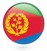 image of eritrea  - Eritrea flag button Isolated on white background - JPG