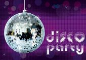 Постер, плакат: Disco party background