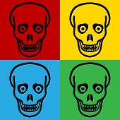foto of cannibalism  - Pop art zombie symbol icons - JPG