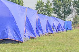 picture of boy scout  - A group of canvas tents at a campground at the  - JPG