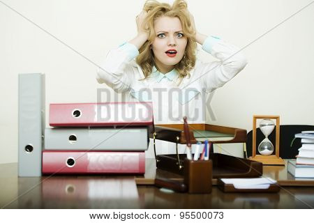 Emotional Woman In Office
