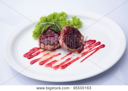 Grilled Pieces Of Tenderloin