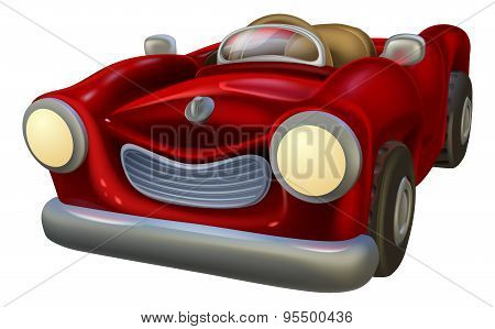 Cartoon Convertible Car