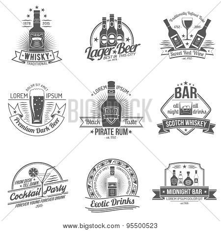 Alcohol Label Set
